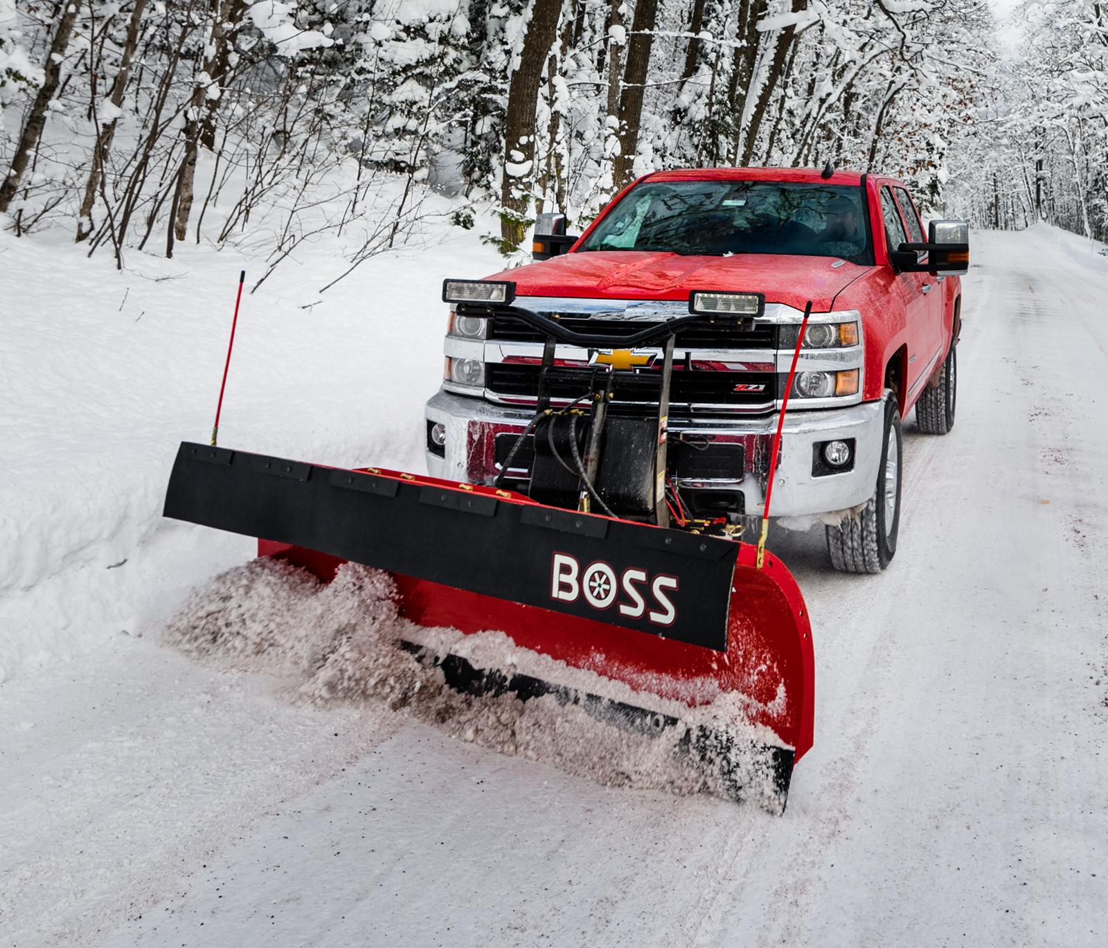 truck plow equipment boss snowplow