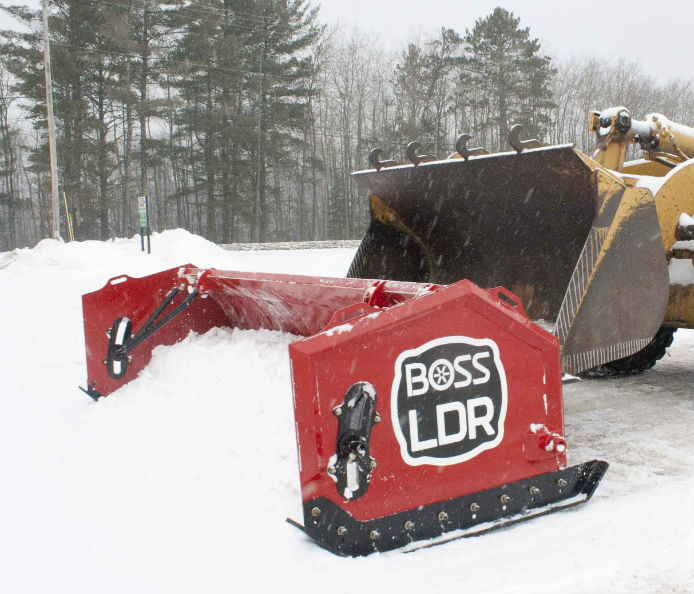 Loader Box Plow Action Video