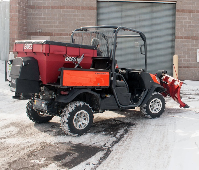 Boss snowplow utv v box spreaders for Bed tech 3000
