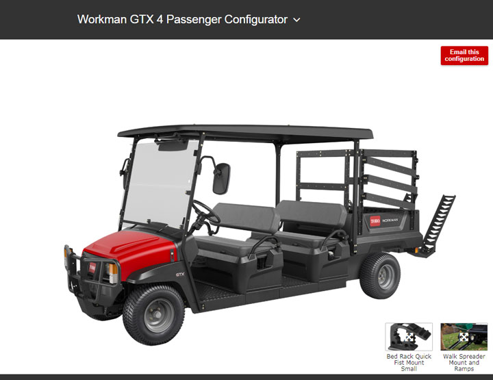 workman GTX configurator