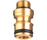 "6mm (1/4"" BSP) x 12mm Brass Sprinkler Adaptor"