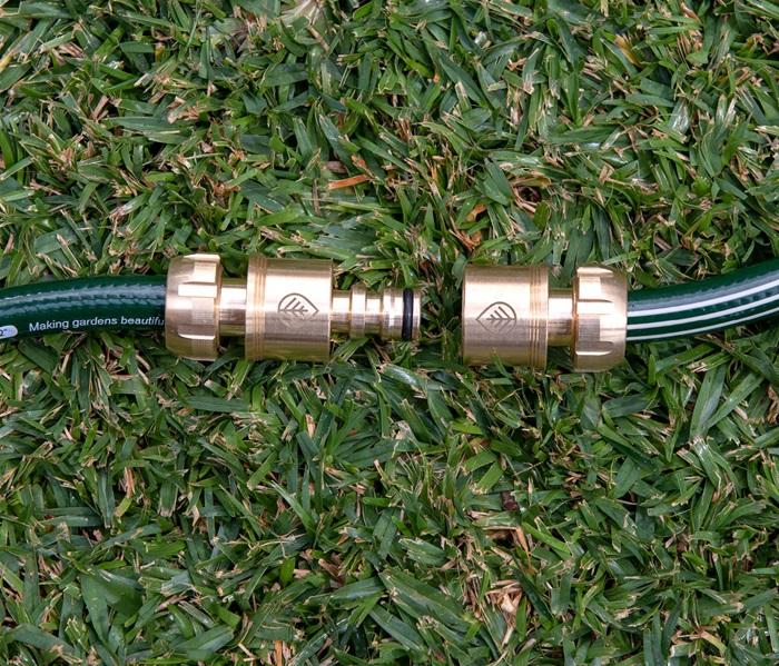 12mm Deluxe Brass 2 Way Hose Coupler