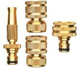 12mm Brass 4 Piece Hose Fitting Set