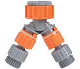 Plastic 2 Way Swivel Tap - Threaded