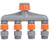 Plastic 4 Way Swivel Tap - Threaded