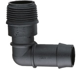 19 mm Barbed x 20 mm BSPM Threaded Elbow