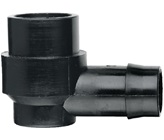 19 mm Barbed x 15 mm BSP Female Threaded Elbow