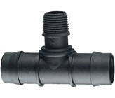 25 mm Barbed x 15 mm BSP Male Threaded Tee