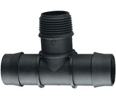 25mm Barbed x 20 mm BSP Male Threaded Tee