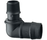 25 mm Barbed x 15 mm BSP Male Threaded Elbow