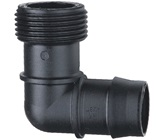25 mm Barbed x 25 mm BSPM Threaded Elbow