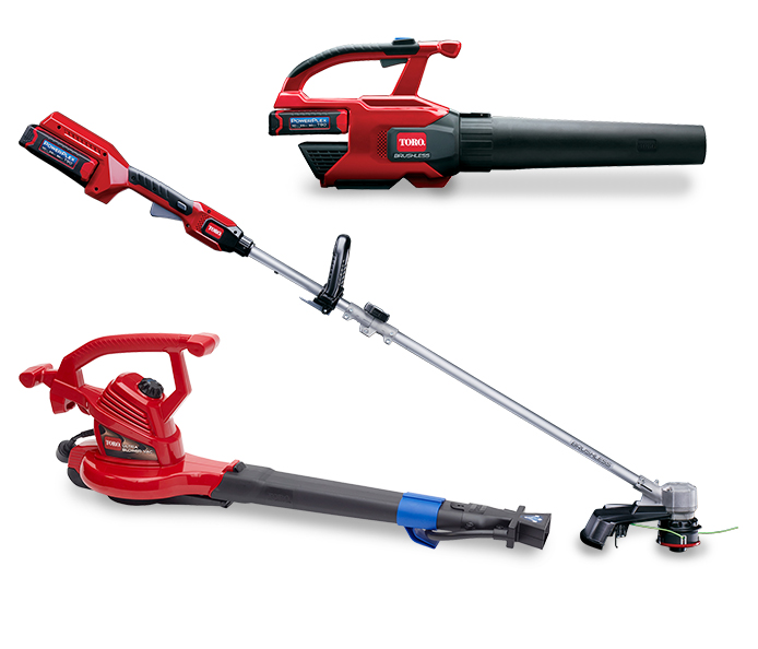 Find Toro leaf blowers and trimmers for yard clean-up