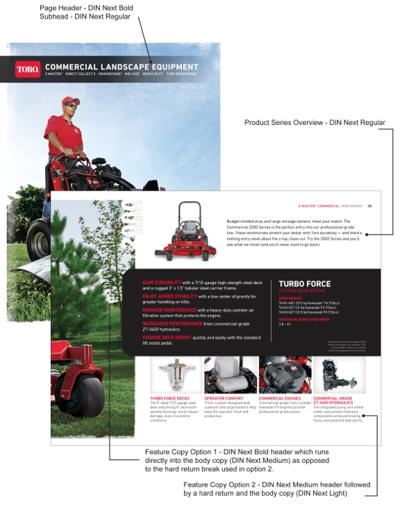 toro examples marketing materials