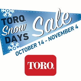 Toro Snow Days Sale - great deals on snow blowers