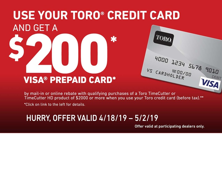 Toro TimeCutter Finance Rebate Offer