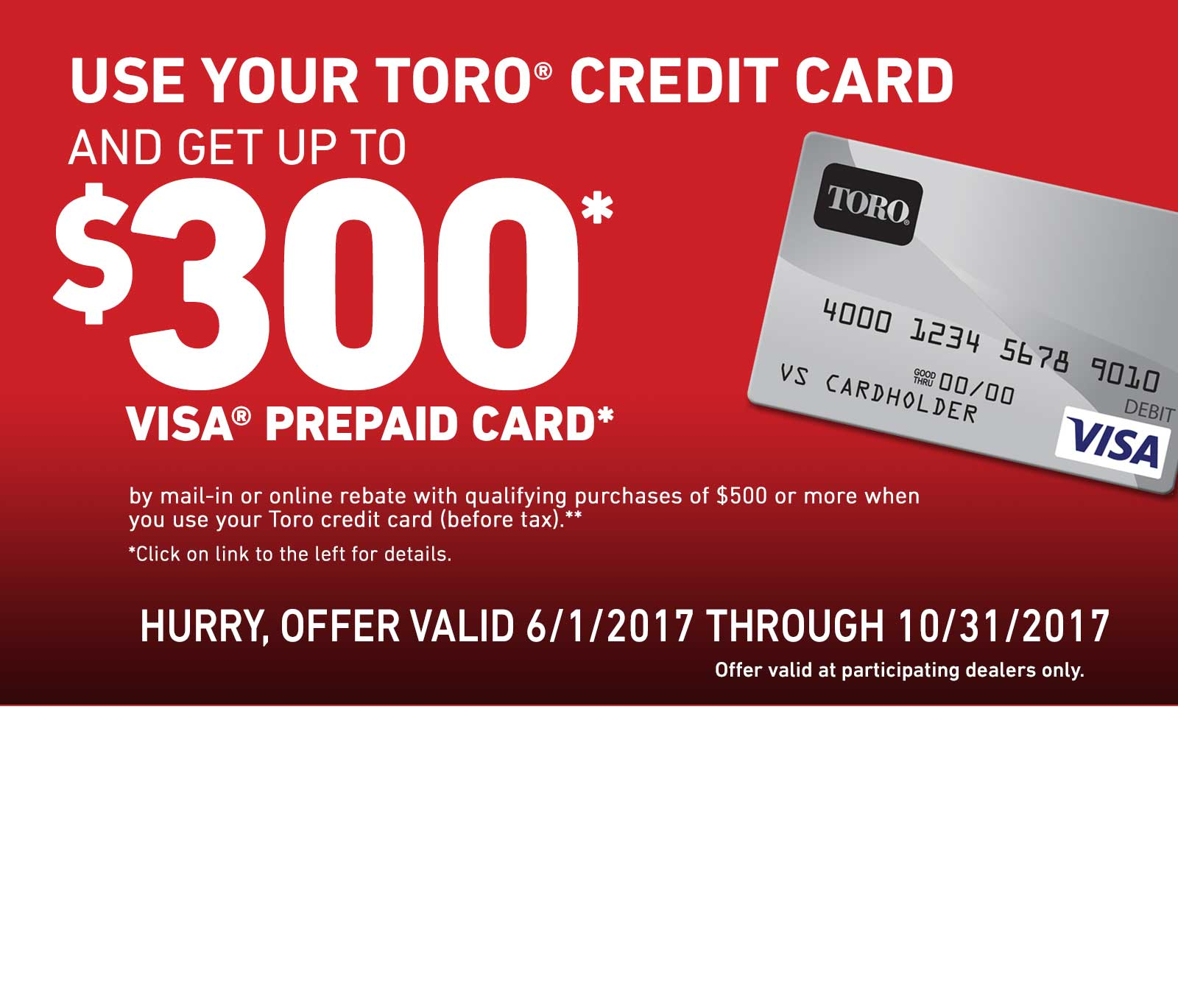 toro toro homeowner customer financing u0026 promotions