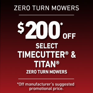 $200 Off Select TimeCutter and TITAN Mowers
