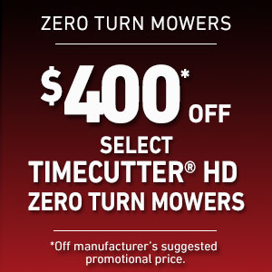 $400 Off Select TimeCutter HD Mowers