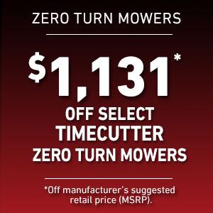 Dollars Off Sélectionnez les tondeuses TimeCutter