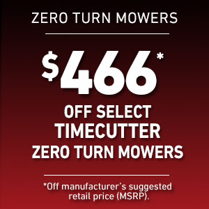 Dollars Off Select TimeCutter Mowers