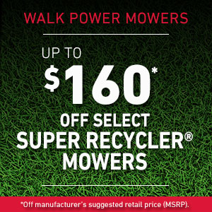 Dollars Off Select Super Recycler Mowers