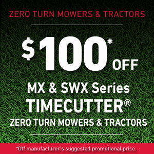 $100 Off TimeCutter MX & SWX
