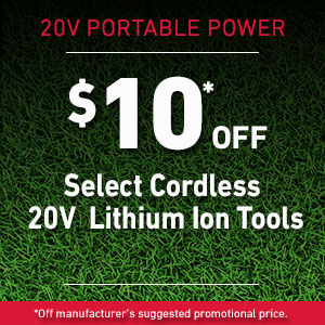 Dollars Off 20V Toro Products