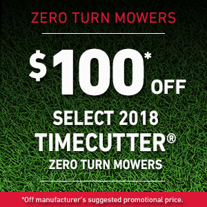Dollars Off Select TimeCutter SS & MX Mowers