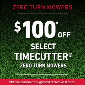 $100 Off Select TimeCutter Mowers