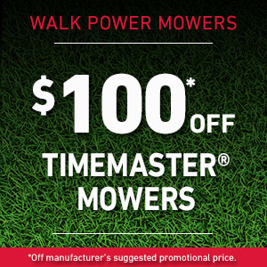 Dollars Off Select TimeMaster 30 inch Mowers