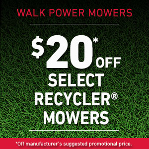 $20 Off Select Recycler Mowers