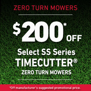 Dollars Off Select TimeCutter SS Mowers