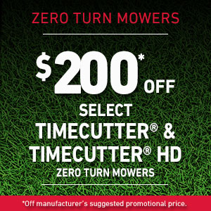 $200 Off Select TimeCutter  and TimeCutter HD Mowers