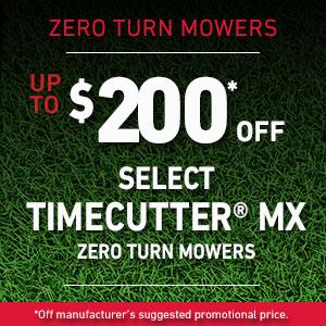 Dollars Off TimeCutter MX Mowers