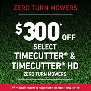 $300 Off Select TimeCutter  and TimeCutter HD Mowers