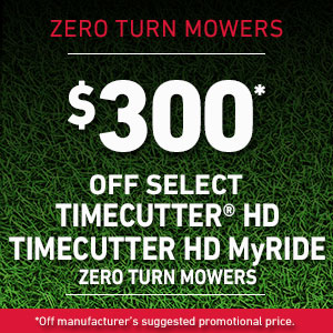 Dollars Off TimeCutter HD and TimeCutter HD MyRIDE Mowers