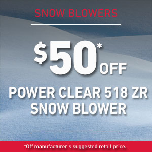 Dollars Off Power Clear 518 ZR Snow Blower