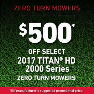 Dollars Off TITAN HD 2000 Series Mowers