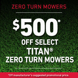 Dollars Off TITAN mowers