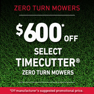 $600 Off Select TimeCutter Mowers