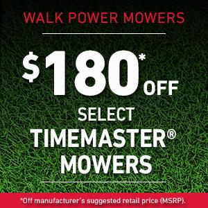 Dollars Off TimeMaster Mowers