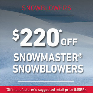 Dollars Off SnowMaster snowblower