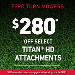 Dollars Off Select TITAN HD Attachments