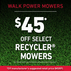 Dollars Off Select Recycler Mowers