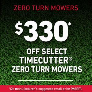 Dollars Off TimeCutter Mowers