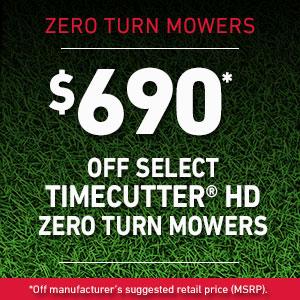 Dollars Off TimeCutter HD Mowers