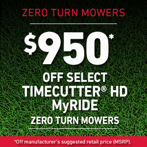 Dollars Off TimeCutter HD MyRIDE Mowers