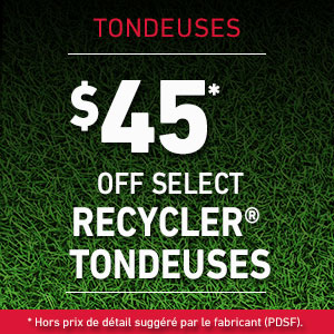 $45 Off Select Recycler Mowers
