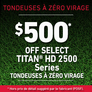 Dollars Off TITAN HD 2500 Series Mowers