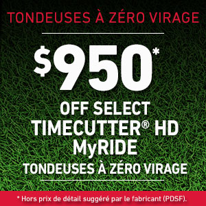 Dollars Off TimeCutter HD MyRIDE Mowers